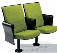 Кресло для актового зала зеленое