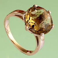 Золотий перстень  з кварцом