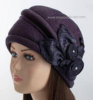 Женская шапочка с цветами