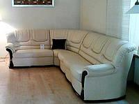 Угловой кожанный диван Римини
