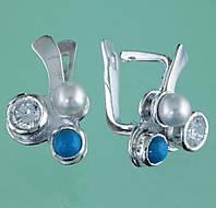 Срібні сережки з бірюзою