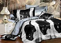Ткань для постельного белья сатин  Пантеры