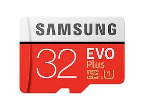 Карта памяти Samsung microSDHC 32GB EVO Plus UHS-I Class 10 (MB-MC32GA/RU)