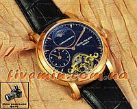 Мужские наручные часы Patek Philippe Chronograph Minutes Heures Double Gold Black качество ААА