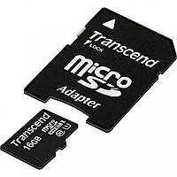 Карта памяти Transcend MicroSDHC UHS-I 16 GB Class 10 + SD-adapter (TS16GUSDU1)