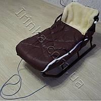 Конверт меховой в коляску и санки для детей Villu (шоколад)