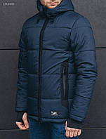 Мужская тёмно-синяя зимняя куртка Staff hyg navy LBL0003 в наличии р. XS; S
