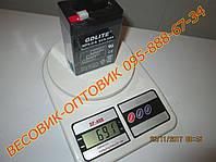 "Аккумулятор (АКБ) для торговых весов ""GDLITE"" NP5.0-6 AGM 6v/5a (октябрь 2017г. в.) размер 70×47×101мм"