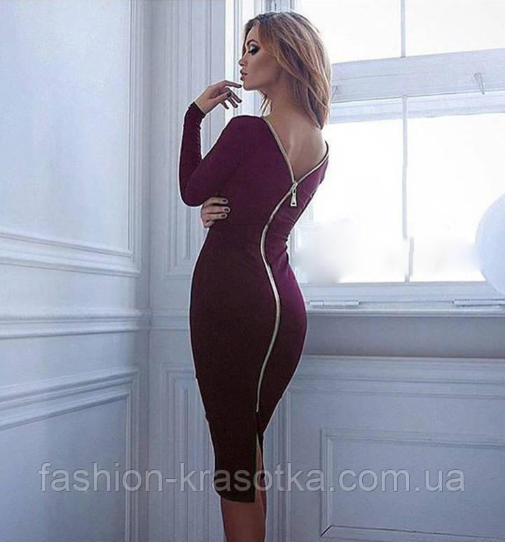 Платье на молнии модное  женское,размеры:42,44,46,48.