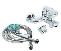 Смеситель для ванны+лейка и шлагн POTATO P30207