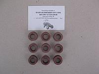 Ремкомплект втулок направляющих штанг клапанов Д-21(кол-во 9шт.) силикон (Д30-1007399)