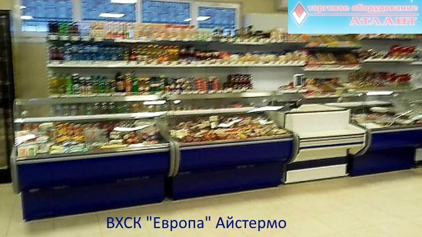 ВХСК Европа, металлические стеллажи в продуктовом магазине в п.Рудня.