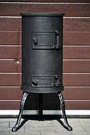 Печь буржуйка чугунная 6 кВт+ лопатка