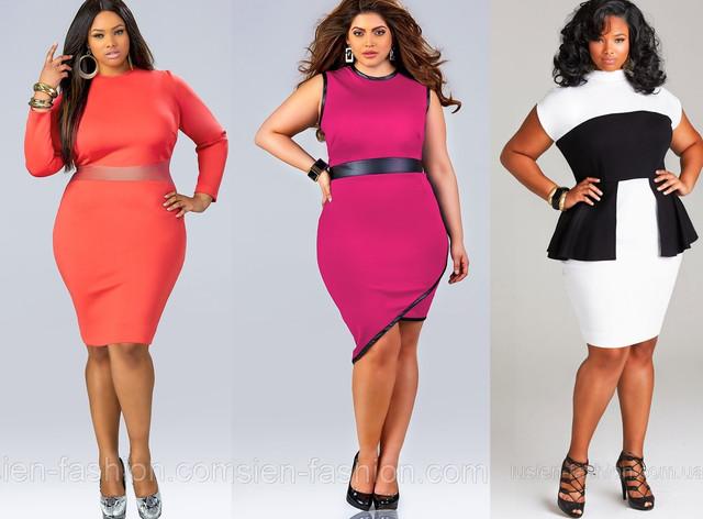 Мода для полных 2014. Яркие модные платья больших размеров для полных женщин.