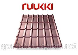 Металлочерепица Ruukki/Руукки, Decorrey Grand / Декоррей Гранд , Polyester/полиэстер, RR32 Quality class 20