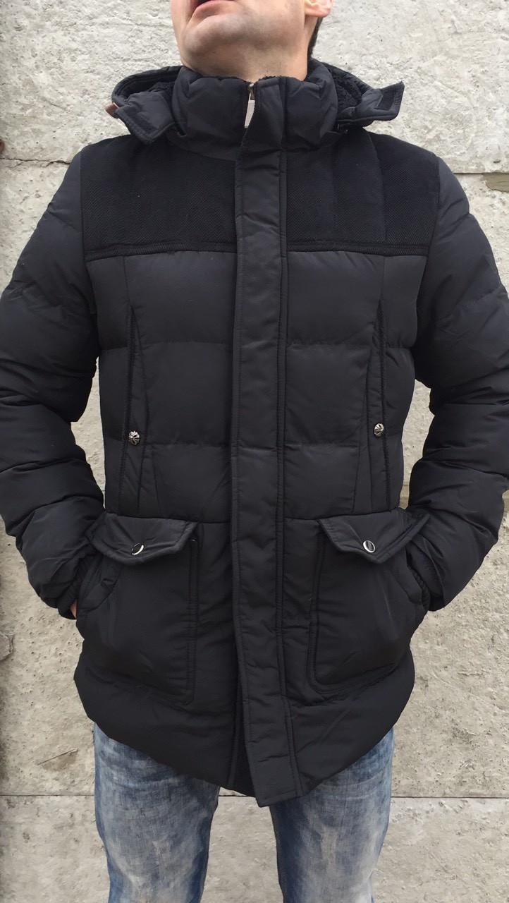 166304d58b4 Куртка мужская Зима черная. - купить по низкой цене. Код 618434243