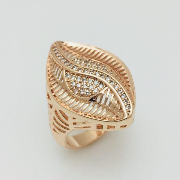 Перстень женский Fallon Листик, размер 17 ювелирная бижутерия