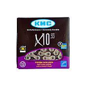 Ланцюг 10 шв KMC X10.93 1/2х11/128х114L сріб/чорна,