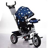 Велосипед детский трехколесный Turbo Trike M 3115HA-S11 синий с рисунком