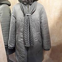 Пальто зимнее с шарфом