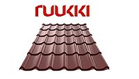 Металлочерепица Ruukki/Руукки, Monterrey / Монтеррей , Polyester mat / полиэстер мат, RR32 Quality class 30