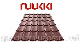 Металлочерепица Ruukki/Руукки, Monterrey / Монтеррей , Polyester / полиэстер, RR32 Quality class 20