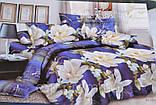 Евро комплект постельного белья с красивым рисунком Размер : ― Пододеяльник ( 200 см х 220 см ) ― Простынь ( 2, фото 3