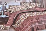 Евро комплект постельного белья с красивым рисунком Размер : ― Пододеяльник ( 200 см х 220 см ) ― Простынь ( 2, фото 7