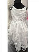 Нарядное детское платье с корсетом  (4-7 лет)