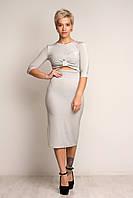 """Женское модное платье """"Люрекс"""" Серое, черное. Размер S(42-44),M(44-46),L(46-48)."""