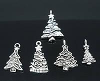 """Подвески """" Рождественская елка """", 20 mm x 11 mm- 29 mm x 17 mm"""