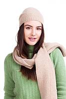 Шапка и шарф  из мериносовой шерсти