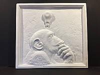 Гипсовый декор стен, Панно  Дарвин