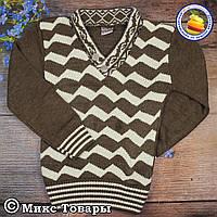 Вязанный свитер с мысом для мальчика Размеры: 3-4,5-6,7-8 лет (5821-2)