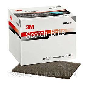 3M™ 07448 Ультратонкие листы Scotch-Brite, серые, 158 х 224 мм 3М