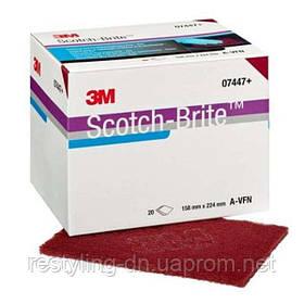 3M™ 07447 Супертонкие листы Scotch-Brite, красные, 158 х 224 мм