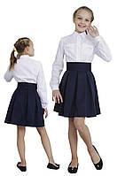 """Юбка для девочки в складку м-1105 рост от 116 до 158 синяя тм """"Попелюшка"""", фото 1"""