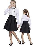 Юбка для девочки в складку м-1105 рост от 116 до 158 черная, фото 1