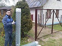 Сетка рабица 50х50/Ф2,0мм/высота 2,0 м, длина 10м
