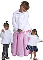 """Болеро - шубейка для девочки из меха М-1079 рост 92 98 104 110  и 116 тм """"Попелюшка"""""""