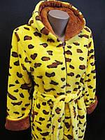 Махрові кольорові халати з леопардовим принтом., фото 1