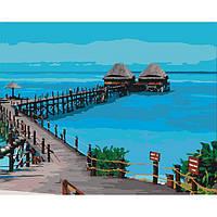 Рисование по цифрам Пляж Танзании (KH2228) Идейка 40 х 50 см