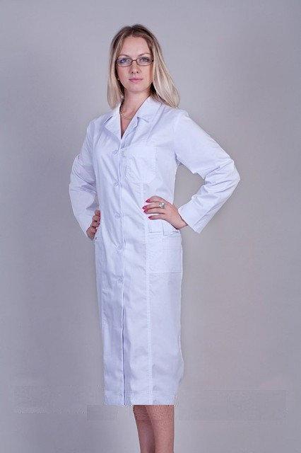 Коттоновый медицинский халат большого размера