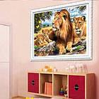 Алмазная вышивка семья львов на отдыхе 40х30 см, фото 6