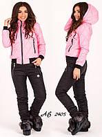 Зимний спортивный костюм женский на синтепоне штаны с курткой очень теплый