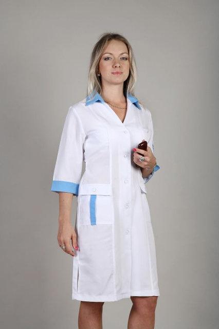 Женский медицинский халат с вставками