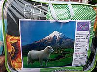 Одеяло Полуторное Меховое Радуга в сумке овечья шерсть 150х210