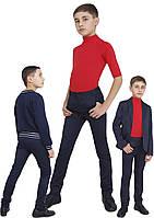 Брюки  для мальчика узкие школьные М-1103  рост 128-158 , фото 1