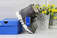 Ботинки Adidas Equipment женские зимние (серые), ТОП-реплика, фото 1