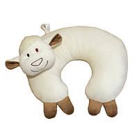 Мягкая игрушка Подушка Рожок овечка